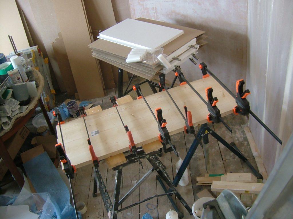 Glueing Shelf Planks