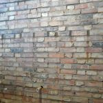Started Repointing Wall