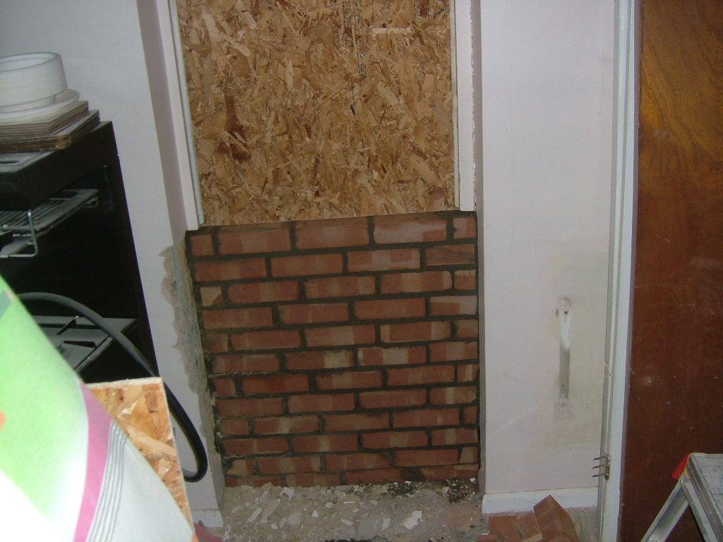 Kitchen Door Bricked Up 2
