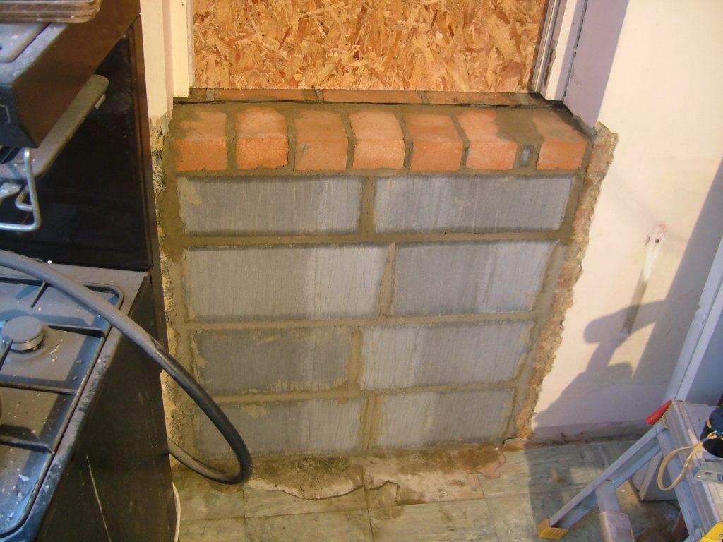 Kitchen Door Bricked Up 4