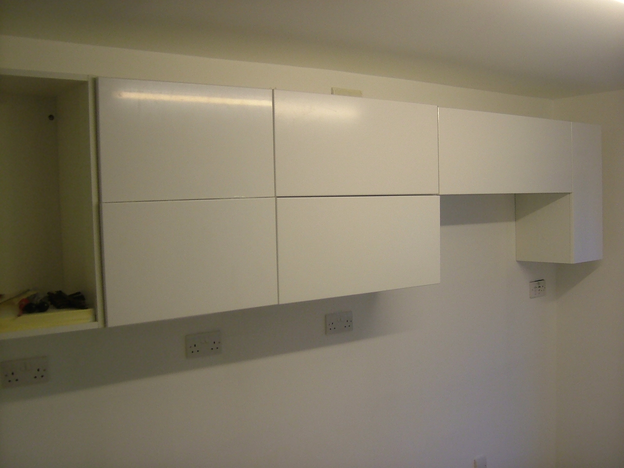 Kitchen wall cabinets for Kitchen units on one wall