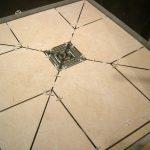 Shower Floor Tiles Cut