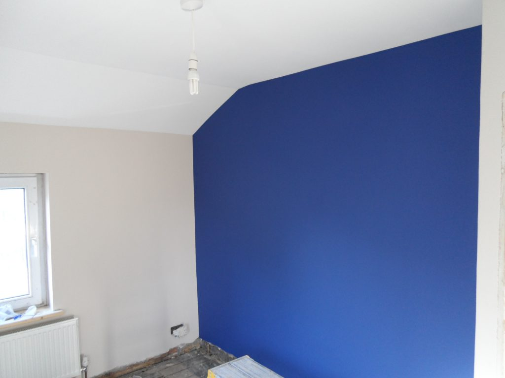 Blue Wall Painted