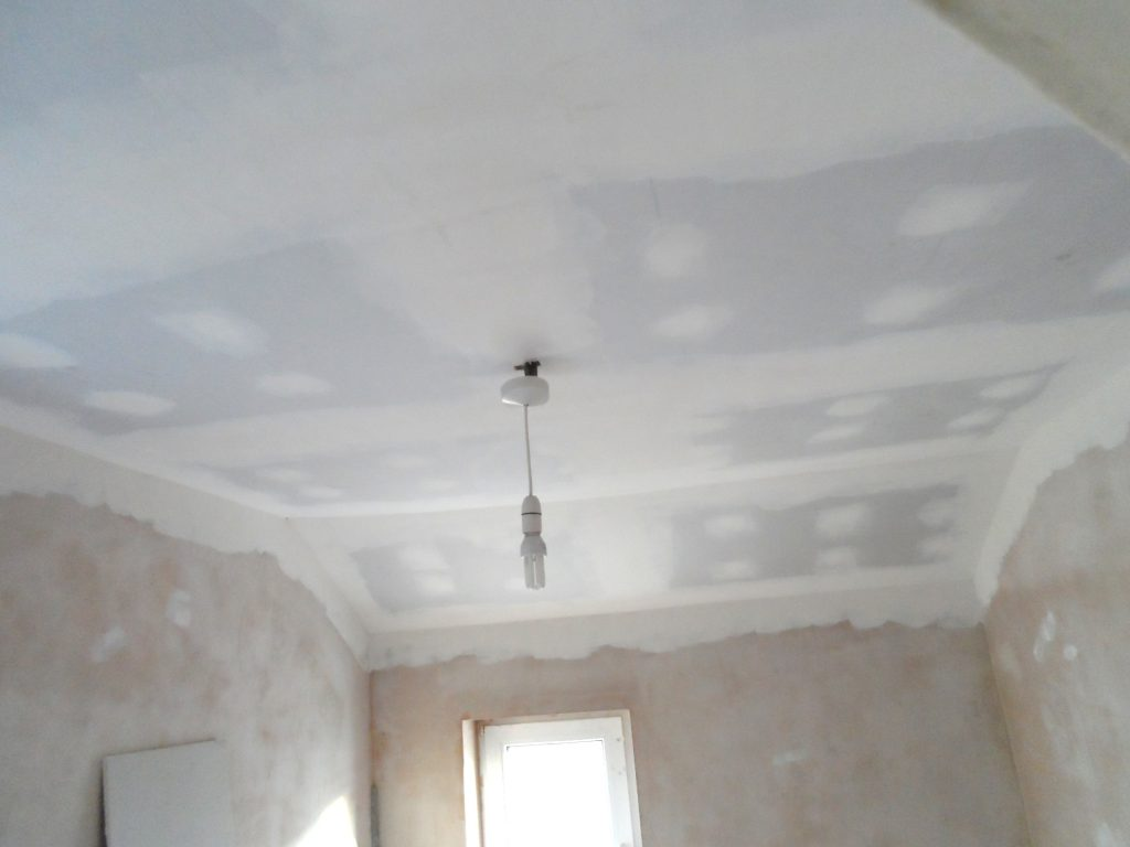 Ceiling Edge Taped