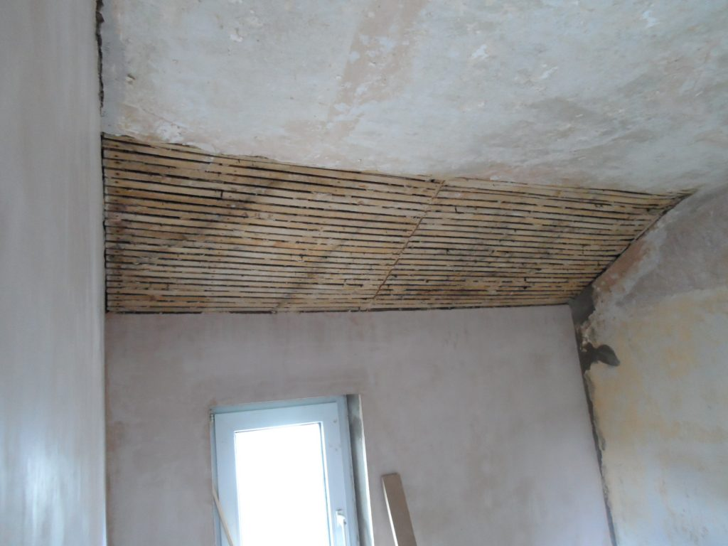 Ceiling Partly Removed