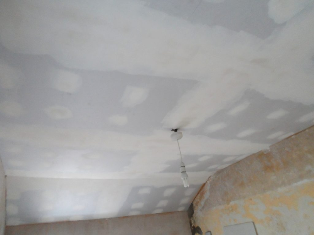 Ceiling Taped