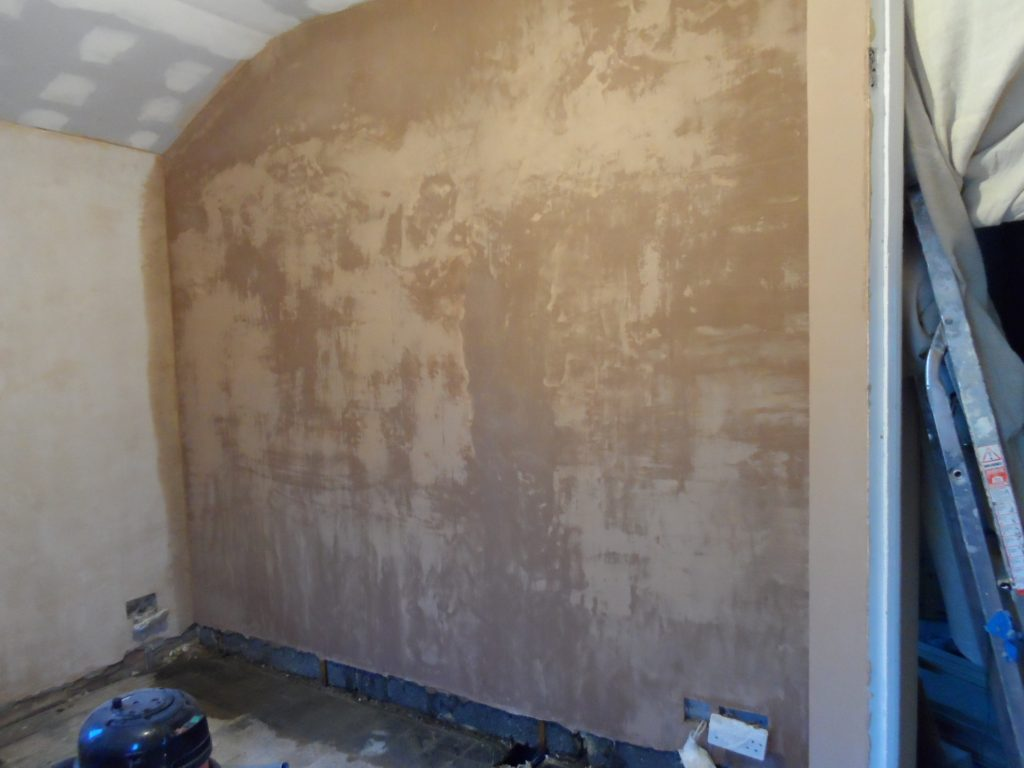 Side Wall Plastered