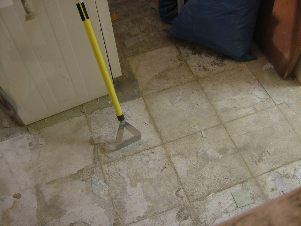 Stripping Kitchen Floor