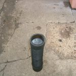 End Of Old Hose Inserted Into New